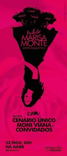 Tributo Marisa Monte em Brumado confirmado para 22 de novembro
