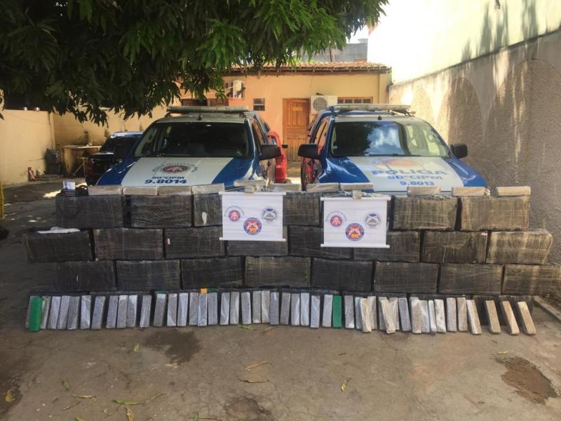 PM apreende carregamento de maconha avaliado em R$ 5 milhões na região Sudoeste da Bahia