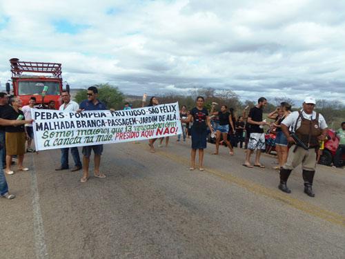 Novos protestos contra a construção do conjunto penal poderão acontecer nesta sexta (27)