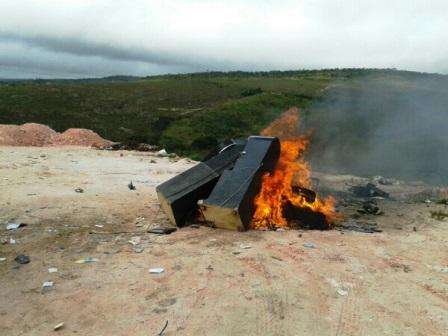Ibicoara: 10 máquinas caça-níqueis são incineradas por decisão judicial