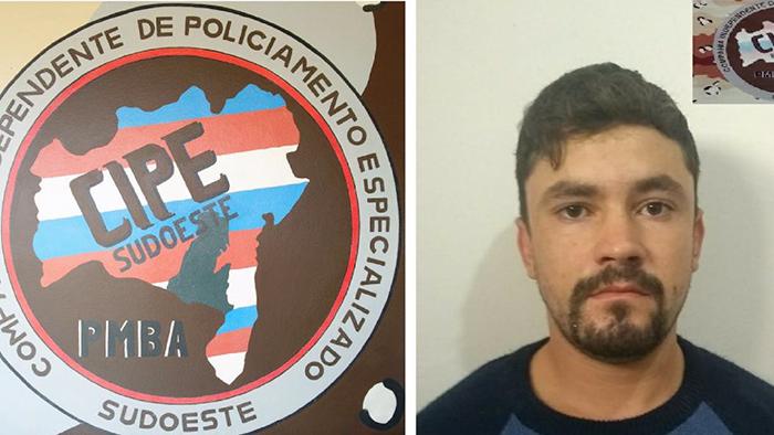 Homem com mandado de prisão em aberto é preso pela Cipe Sudoeste