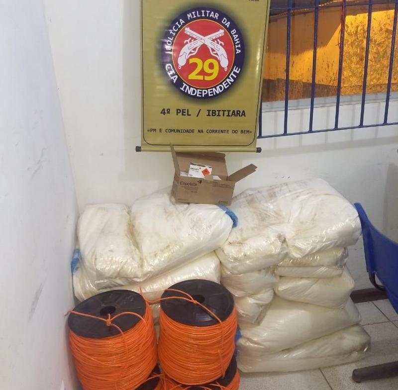 Polícia apreende 250 kg de explosivos na cidade de Ibitiara na Chapada Diamantina