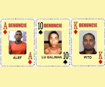 Três foragidos são inseridos no Baralho do Crime