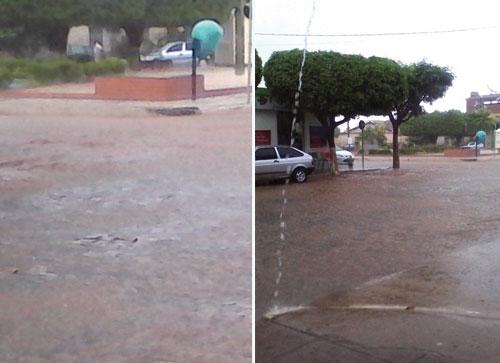 Depois de muito calor, chuva nesta manhã em Livramento
