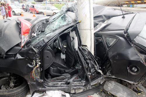 Salvador: Ao voltar da formatura da filha morador de Livramento bate o carro e morre na hora