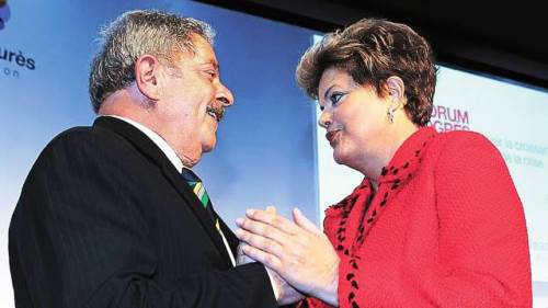 Dilma manda parabéns a Lula pelo Twitter