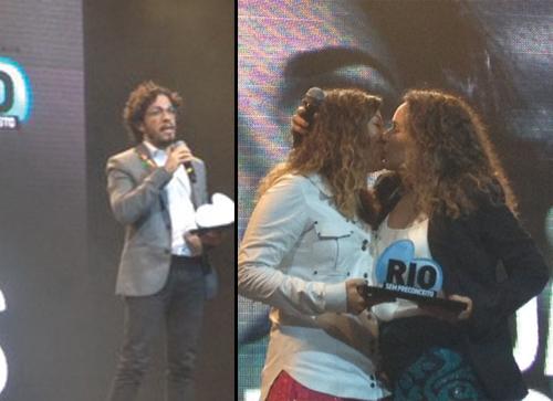 Beijo lésbico e dedicação á prostituta são destaque do Prêmio Rio Sem Preconceito