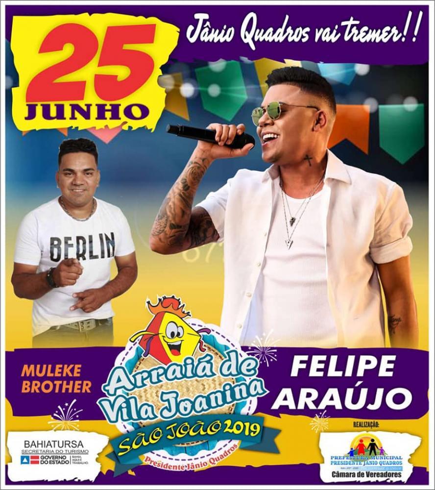 É hoje! Grande Show do cantor Felipe Araújo em Jânio Quadros; veja o vídeo