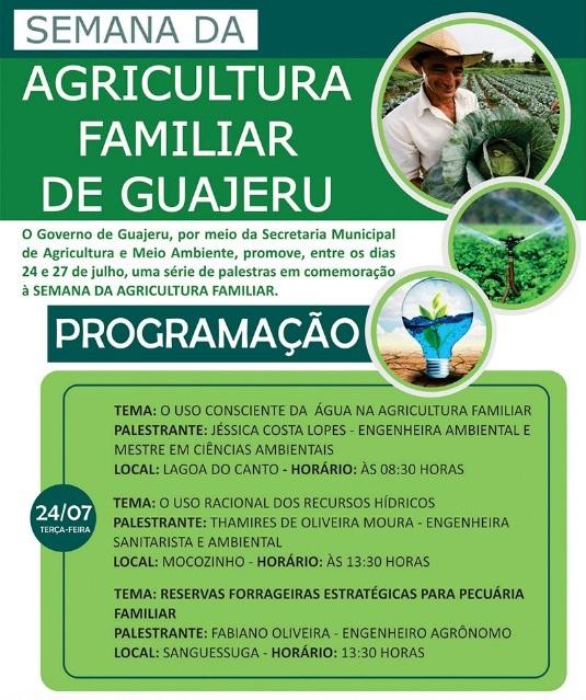 Guajeru: Secretaria de Agricultura de Meio Ambiente promove palestras em comemoração à Semana da Agricultura Familiar