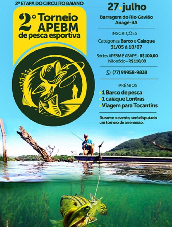 Associação de Pescadores Esportivos de Brumado e Microrregião realiza 2º Torneio de pesca esportiva em Anagé