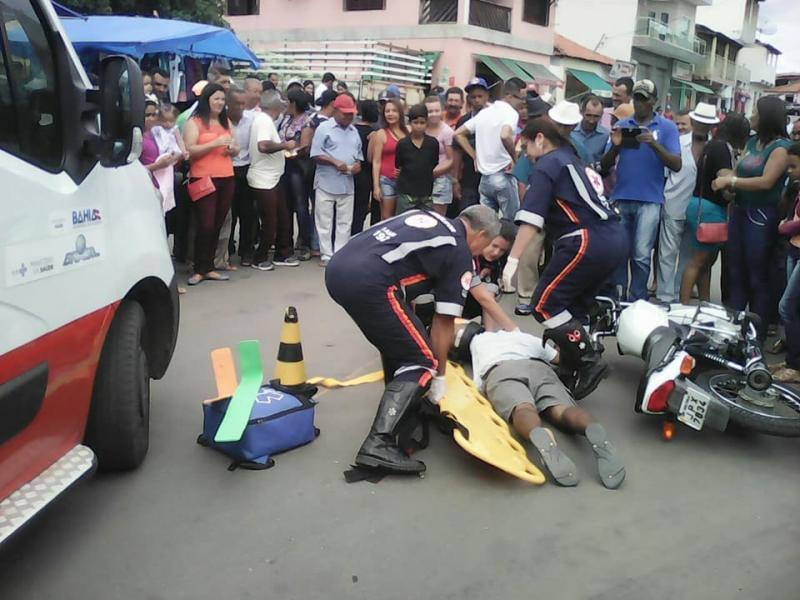 Maio Amarelo: Blitz e simulação de acidente é realizada no Centro de Maetinga