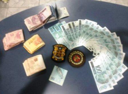 Entre Rios: Quadrilha é detida com R$ 1,8 mil em notas falsas