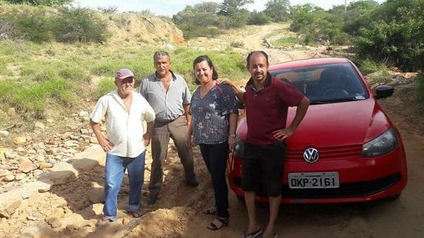Lêda Matias garante restauração das estradas no município de Aracatu
