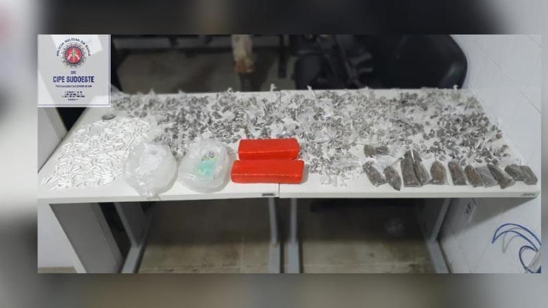 Cipe Sudoeste apreende 1,3 mil porções de drogas em Itambé