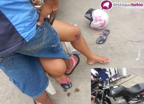 Acidente envolvendo duas motos no centro deixa uma pessoa ferida