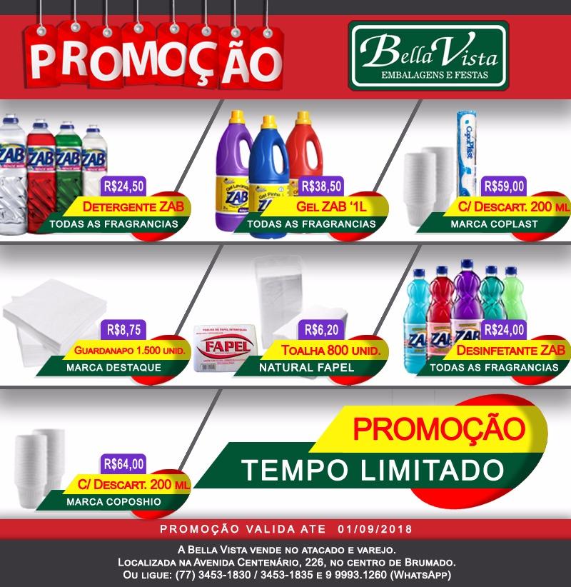 Aproveite as promoções da Bella Vista Embalagens e Festas; confira