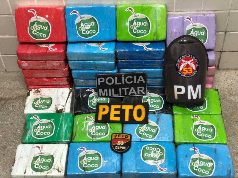 Polícia apreende pasta base de cocaína avaliada em R$ 720 mil na Bahia