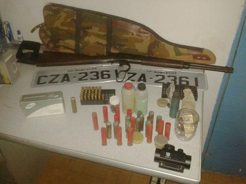 Contendas do Sincorá: Em ronda na Zona Rural CIPE Sudoeste apreende Armas e munições
