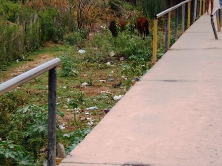 Ponte sem proteção para pedestres deixa moradores revoltados