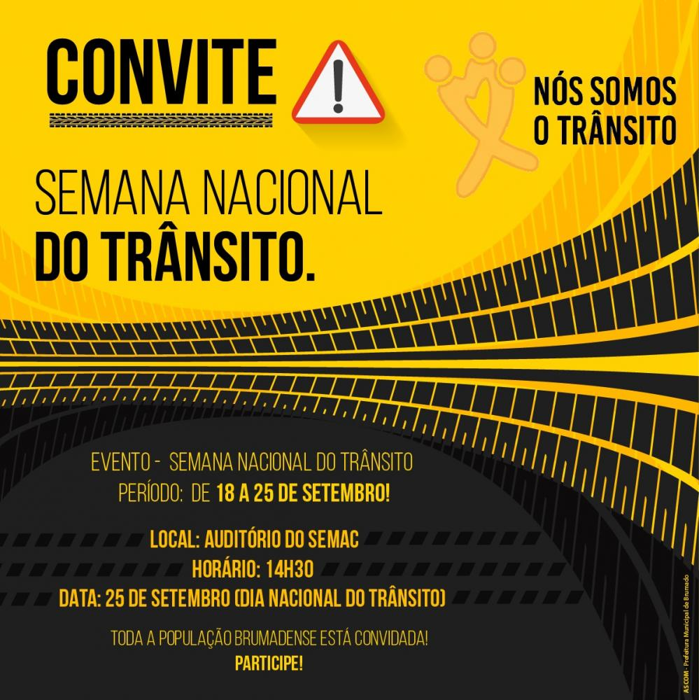 Será realizada em Brumado a Semana Nacional do trânsito; participe