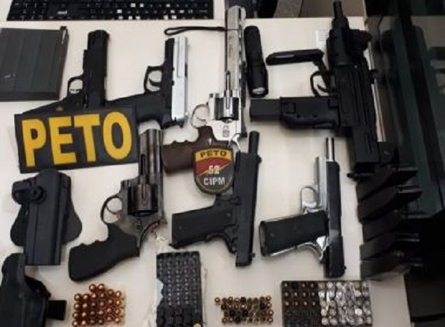 Bahia: Em 2019 oram apreendidas 857 armas a mais do que o número total de registros no Estado