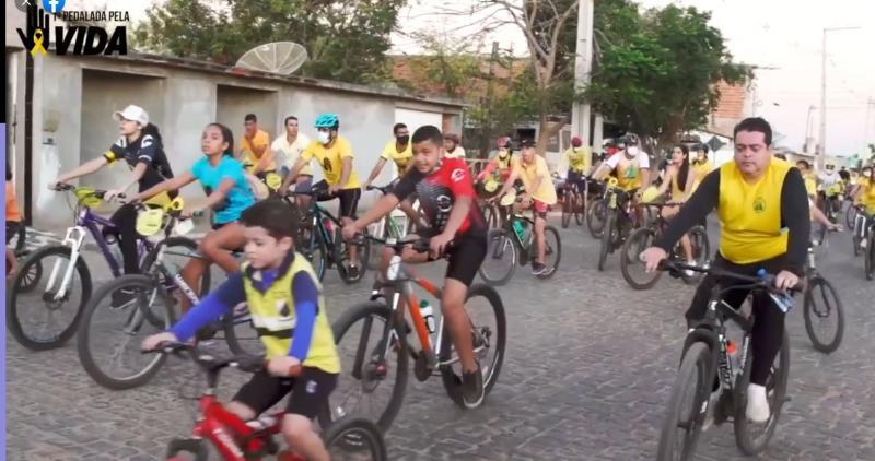 Pedalada pela Vida é realizada em Rio do Antônio em alusão ao Setembro Amarelo