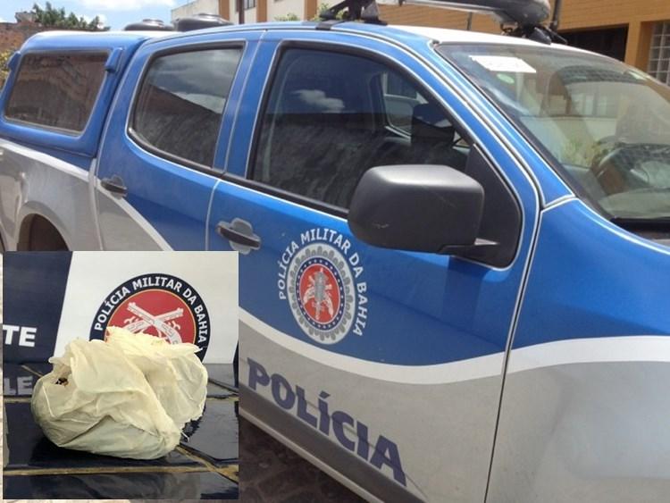 Polícia prende suspeito de roubo em Brumado e apreende porção de drogas com o mesmo