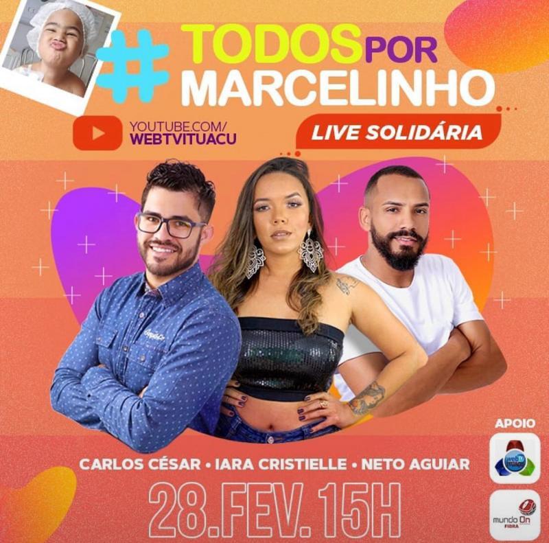 Ituaçu: Live Solidária será realizada em prol do menino Marcelinho