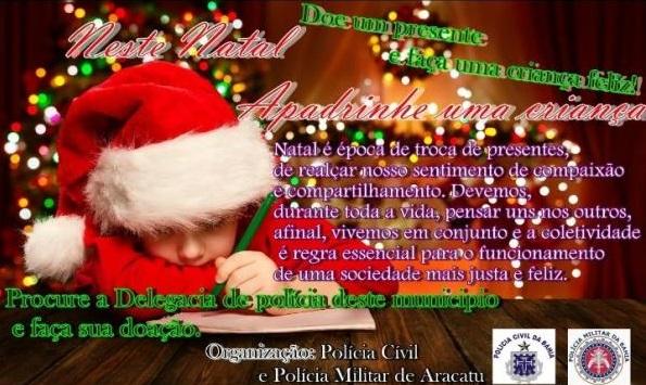 Campanha de arrecadação de brinquedos será realizada pelas polícias Civil e Militar em Aracatu