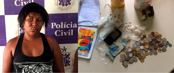 Mulher é presa por tráfico de drogas em Guanambi