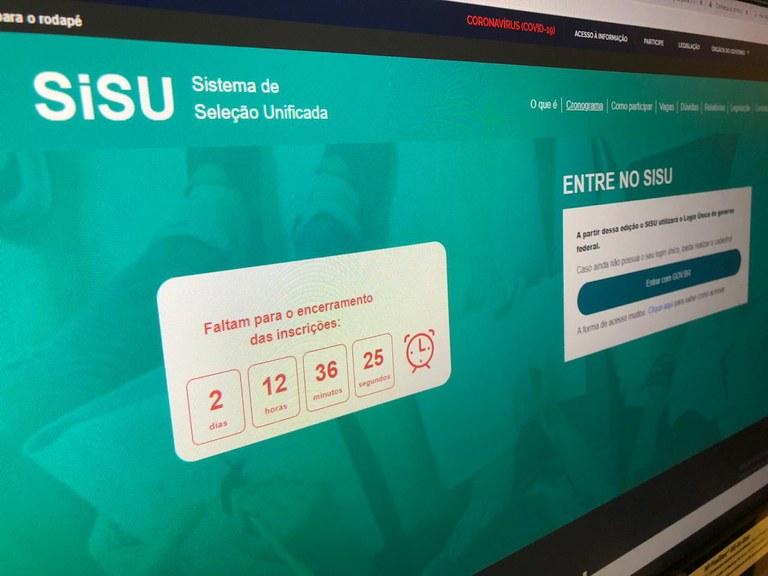 Inscrições para o Sisu estão abertas até a próxima sexta-feira (10)