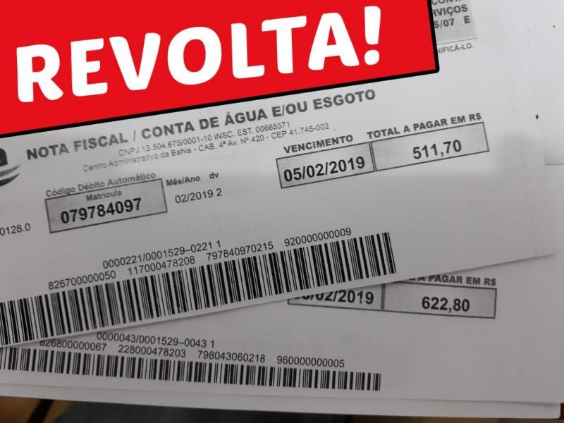 Moradores de Tanhaçu revoltados com a Embasa; contas chegam a alcançar R$ 3 mil reais