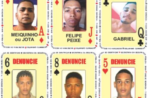 SSP-BA atualiza 'Baralho do Crime'; procurados são por  tráfico de drogas e homicídios