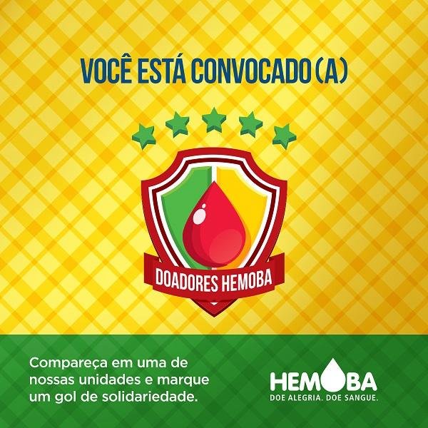 Hemoba lança campanha para garantir estoque durante festas juninas e Copa do Mundo
