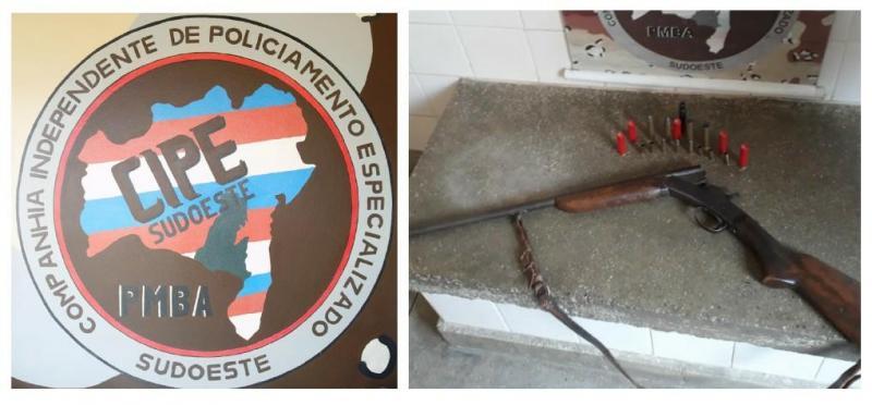Cipe Sudoeste apreende arma de fogo na zona rural de Aracatu