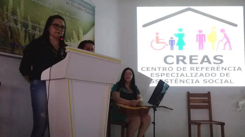 CREAS Chico Xavier realiza palestra Dia Nacional de Combate à Violência Contra a Mulher