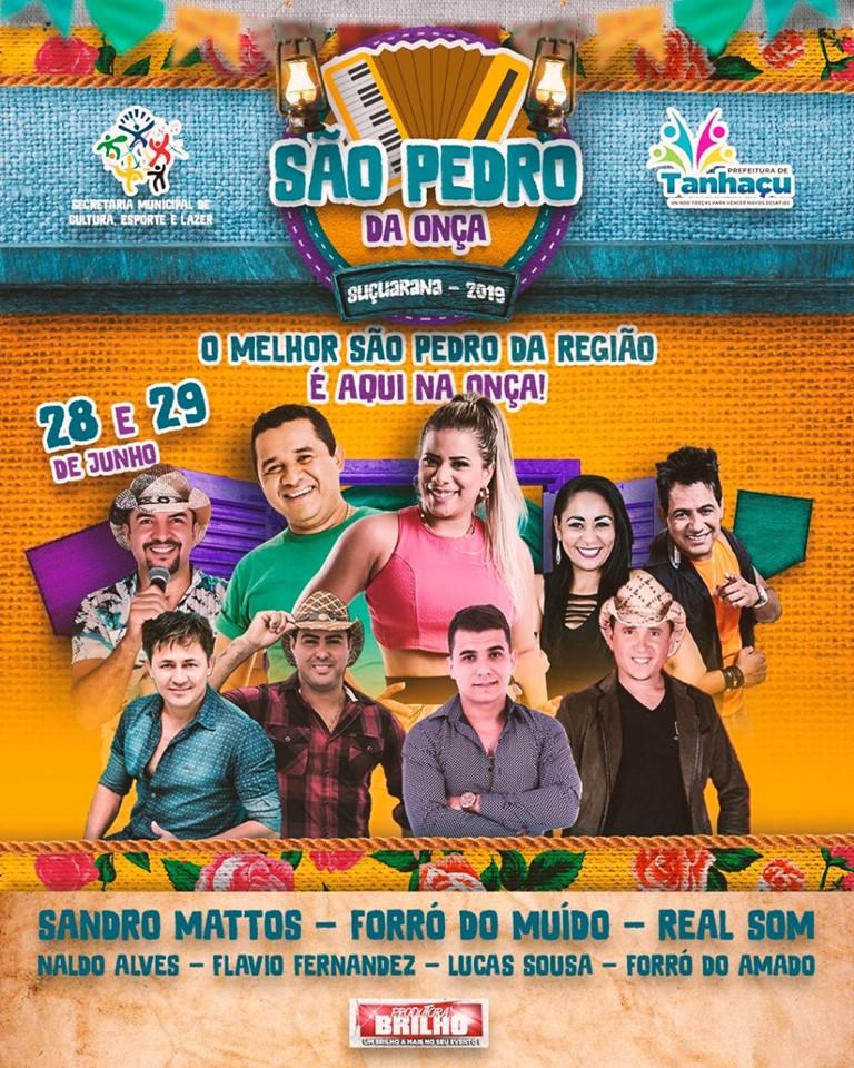 Confira as atrações que farão parte do São Pedro da Onça no distrito de Suçuarana