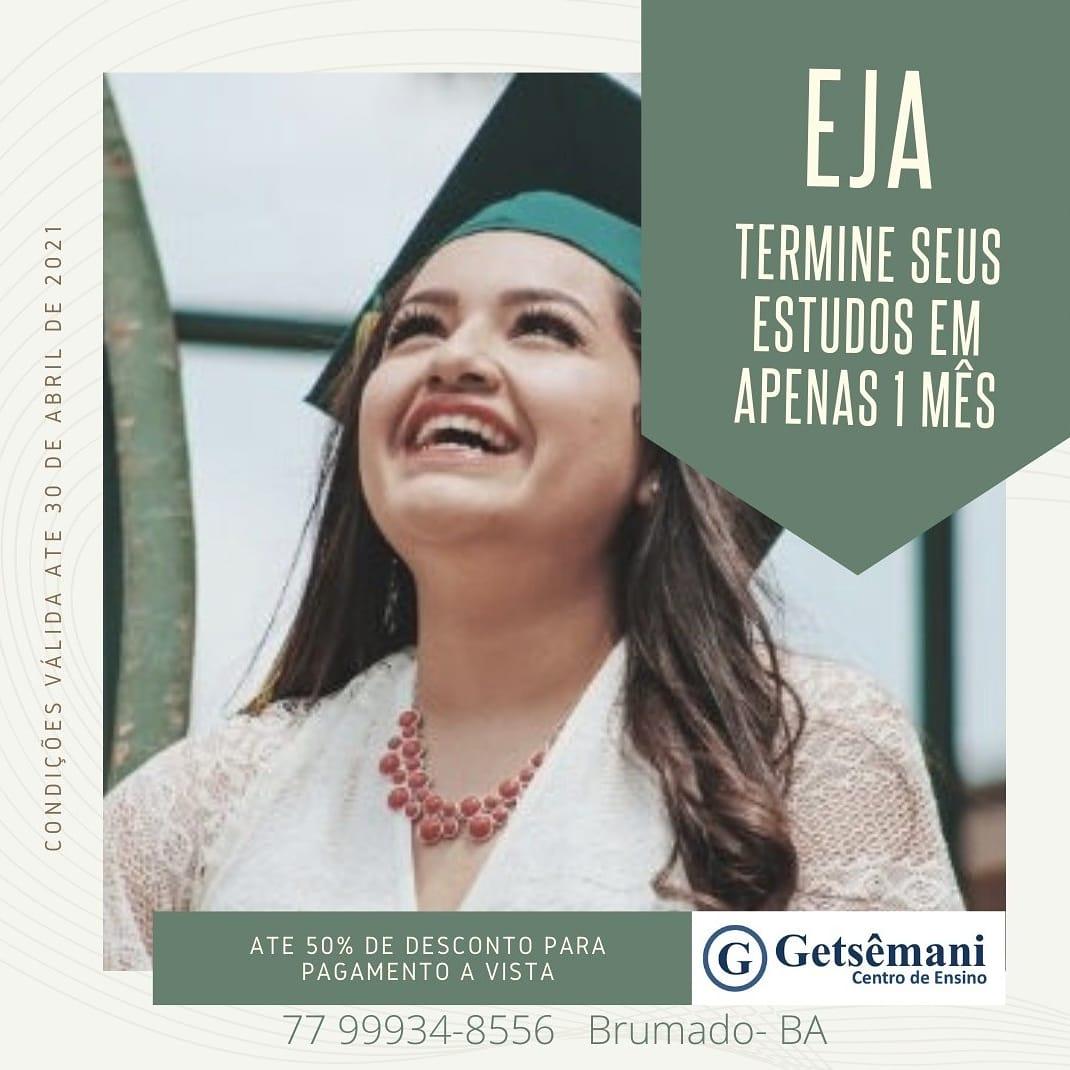 Brumado: Faça EJA EAD e conquiste seu tão sonhado diploma na Getsemani Educacional