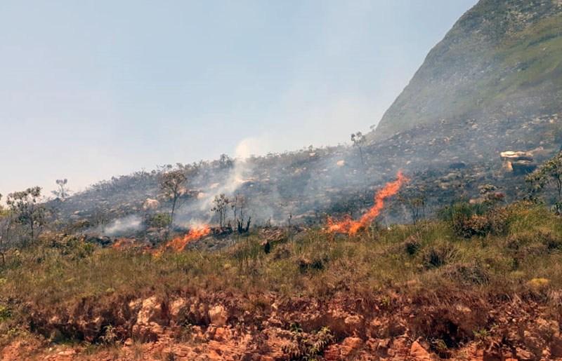 Incêndio atingiu região da Chapada Diamantina; focos foram registrados em Barra da Estiva e entre Andaraí e Mucugê