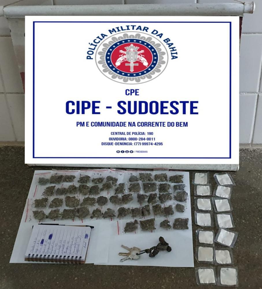 Grande quantidade de droga é apreendida em Maetinga