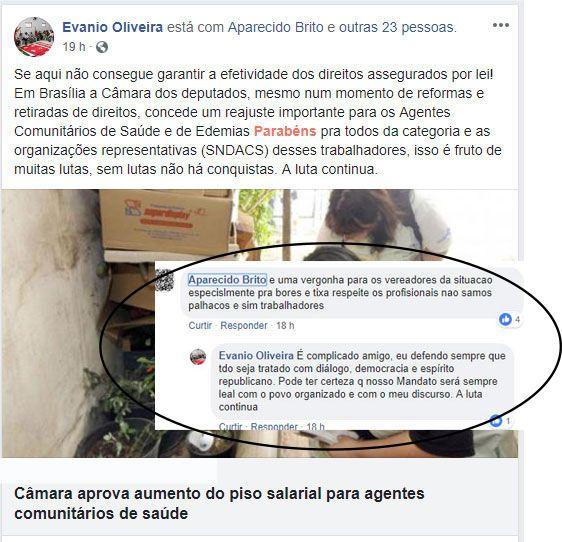 Malhada de Pedras: Bores e Ticha repudiam comentários de agente comunitário e do vereador de oposição Evanio, feitas em redes sociais