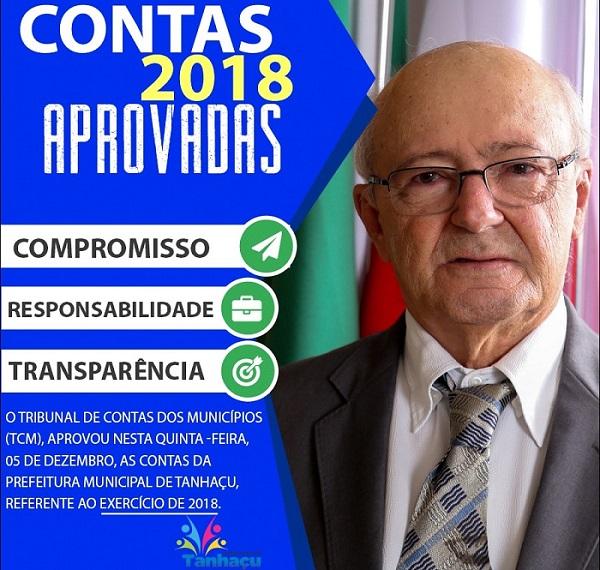 TCM aprova contas da Prefeitura de Tanhaçu, referente ao exercício de 2018