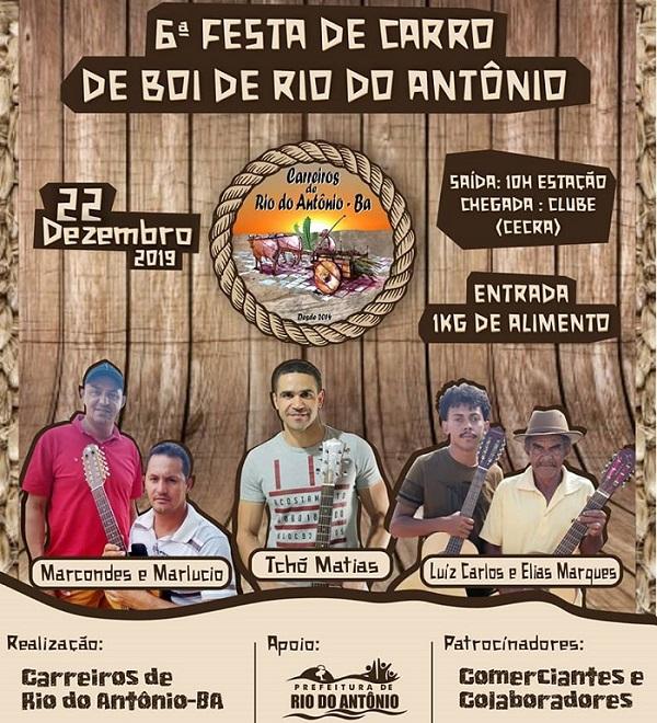 6ª Carreata de Carros de Boi será realizada em Rio do Antônio