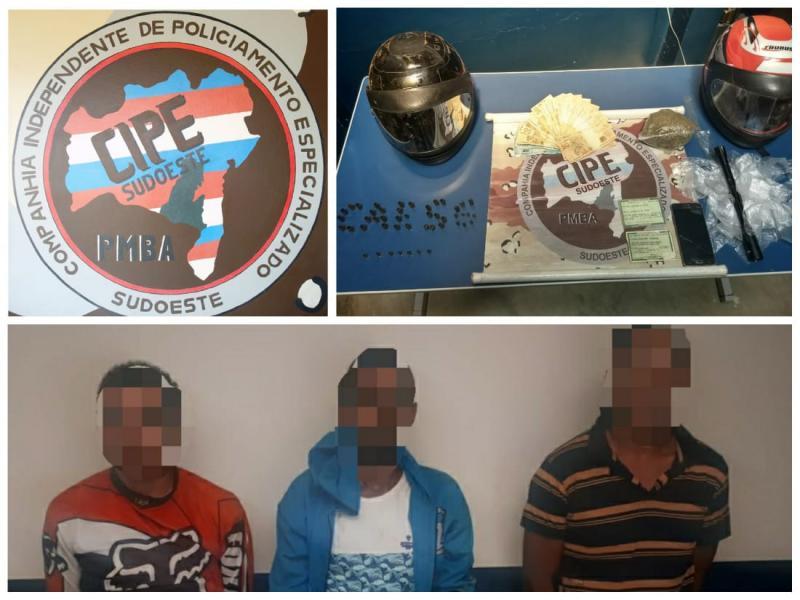 Cipe Sudoeste prende suspeitos de assaltar loja de produtos rurais em Dom Basílio