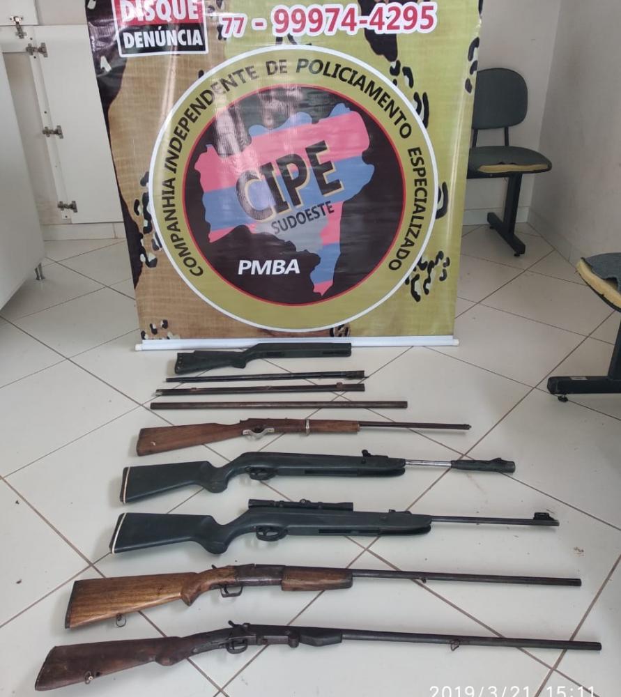 Cipe Sudoeste desarticula fabrica irregular de armas em Candiba