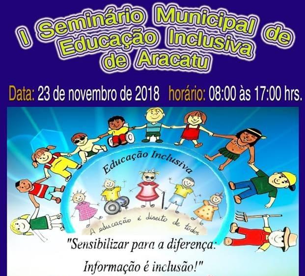 Seminário de Educação Inclusiva será realizado pela Secretaria de Educação de Aracatu