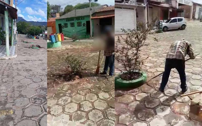 Prefeitura de Ituaçu ordena retirada de plantas da Gruta , projeto de arborização foi feito pelo ex-gestor