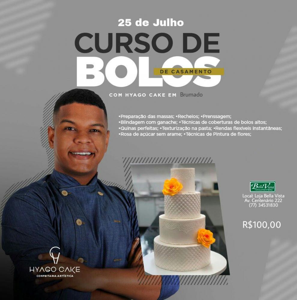 Bella Vista Embalagens promoverá cursos de bolos e tortas com Hyago Cake