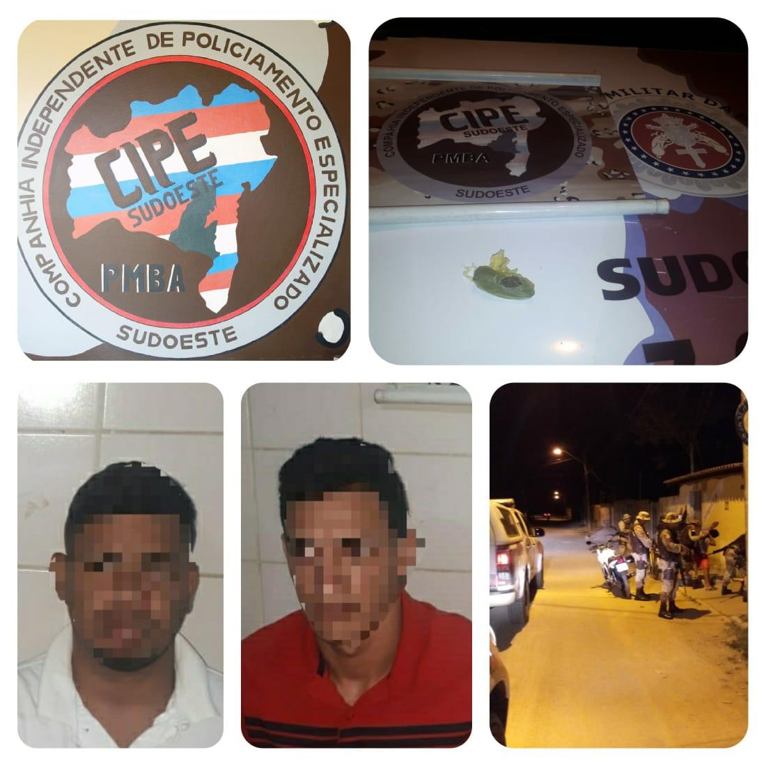 Homens são presos por tráfico de drogas em Guanambi