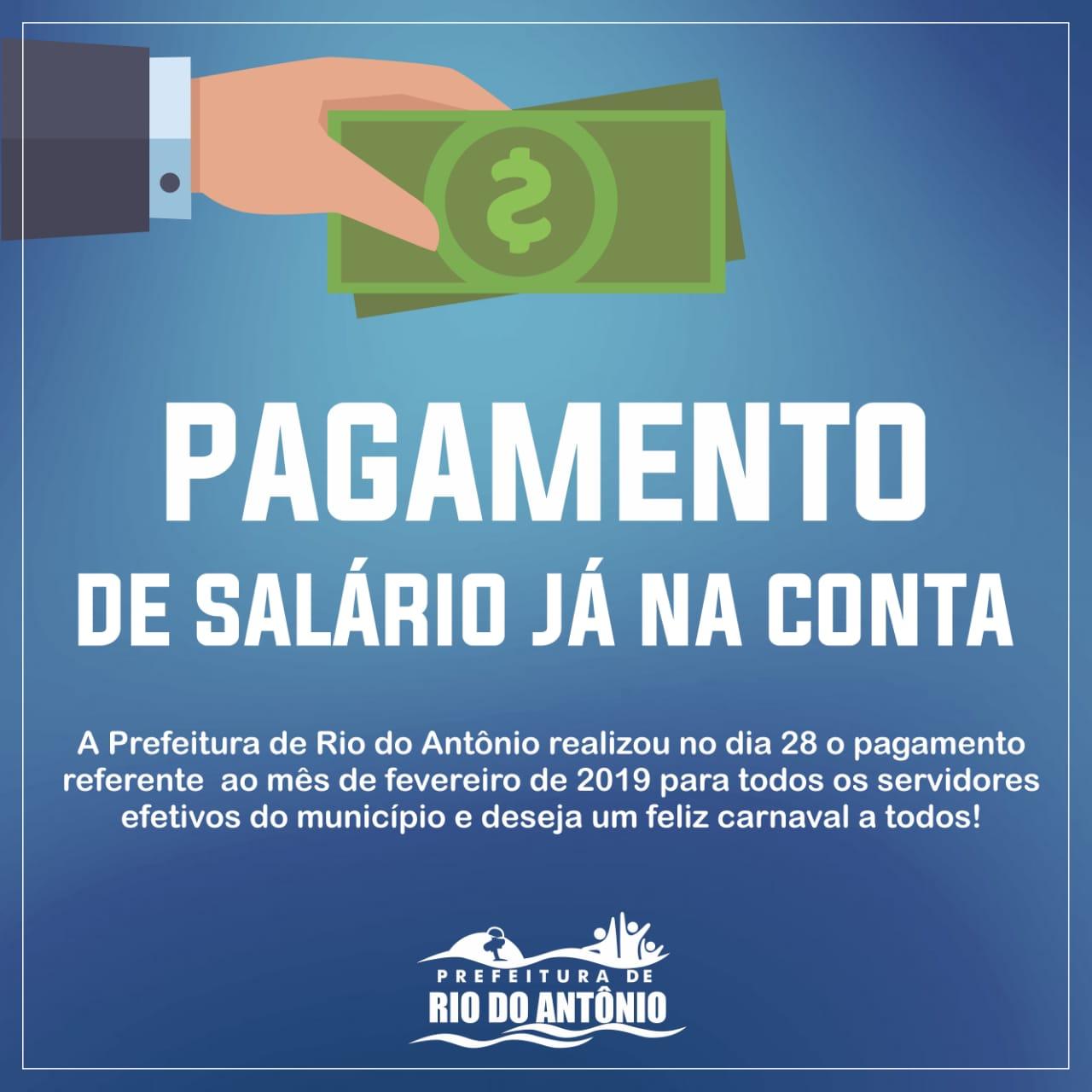 Prefeitura de Rio do Antônio  antecipa pagamento de servidores devido ao período carnavalesco